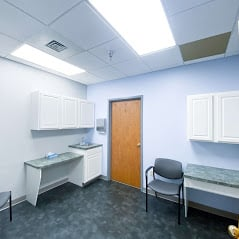 A patient procedure room at a pain management office in Hagerstown mMryland